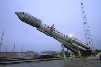 Proton M Startvorbereitung; Credit: Kosmonautika