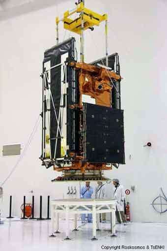 Radarsat 2-Integration; Credit: Roskosmos und TsENKI