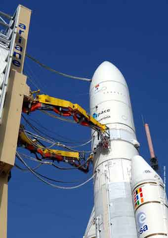 Propellant Feed Arms; Credit: Arianespace