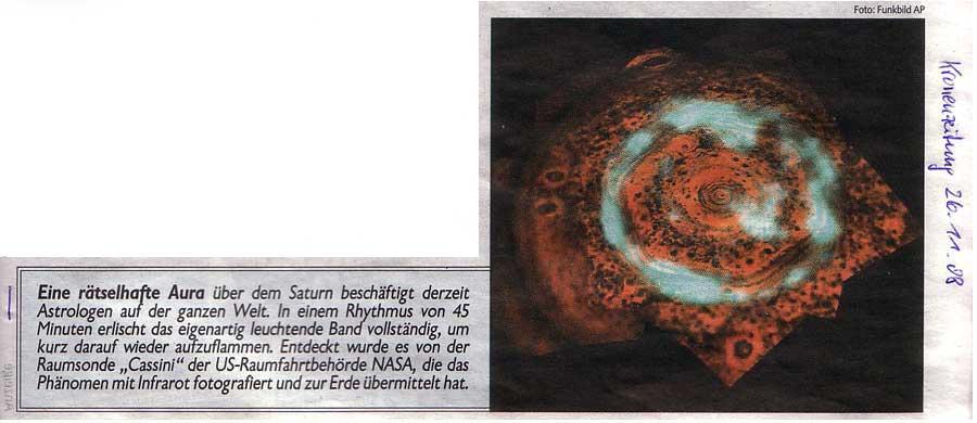 Kronen Zeitung, 26. November 2008