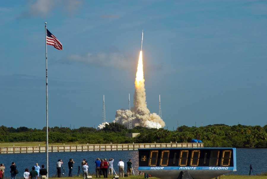 Ares 1-X launch; Credit: NASA