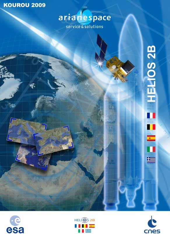 Helios_2B_cover komprimiert; Credit: Arianespace