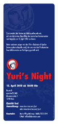 Flyer Yuri's Night; www.meta-physik.com