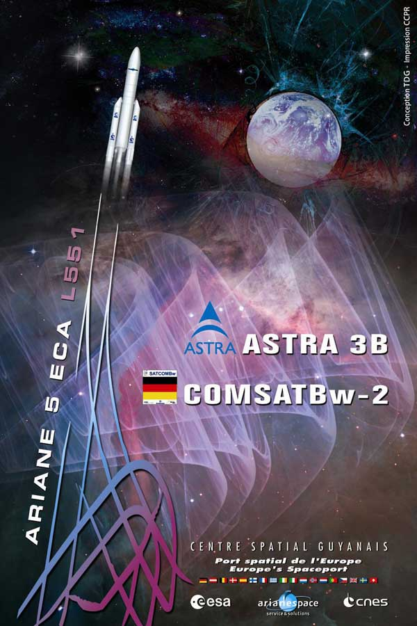 Flug 194 Launch Poster; Credit: Arianespace