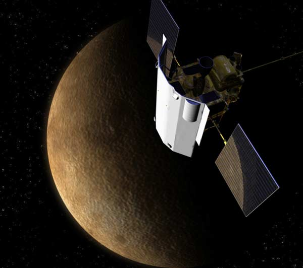 Messenger im Merkur-Orbit CR NASA