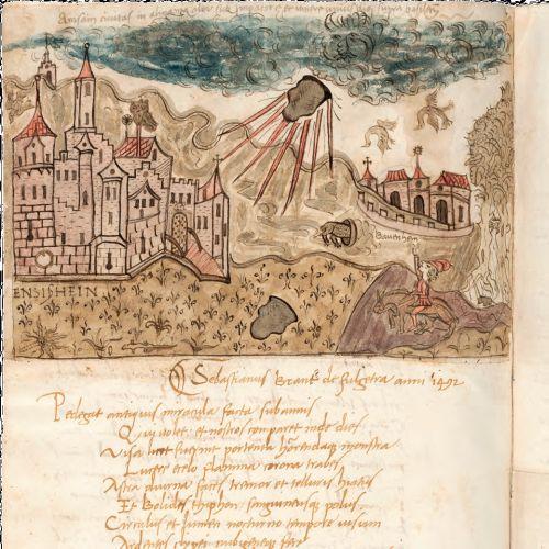 Aquarell von Sigismondo Tizio, Biblioteca Apostolica Vaticana